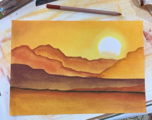 finished pastel