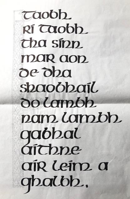 gaelic poster draft
