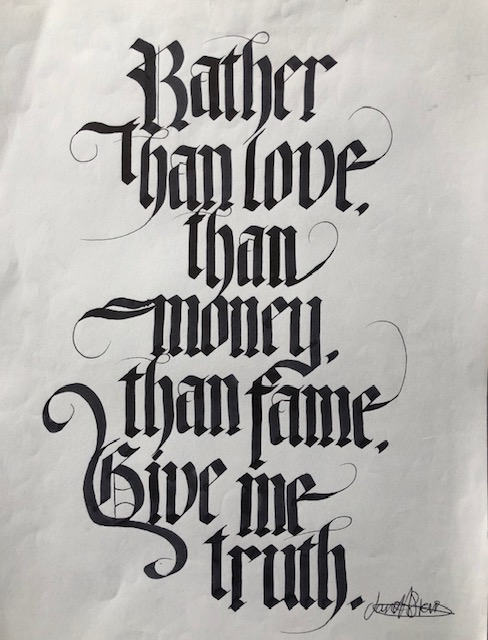 rather than love