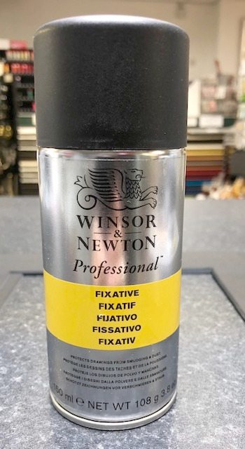 A can of Winsor & Newton fixative